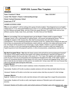 Fillable lesson plan template elementary and Templates to
