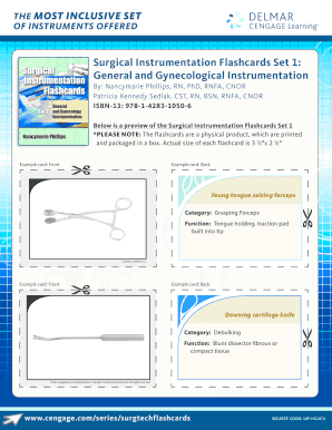 picture regarding Surgical Instrument Flashcards Printable titled THE Optimum INCLUSIVE Established Fill On-line, Printable, Fillable