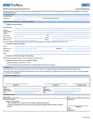 Corporate Maintenance Fill Online, Printable, Fillable