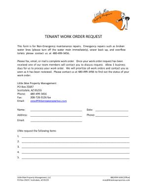 Tenant Work Order Request Form Fillable Printable Templates To - Tenant work order form template