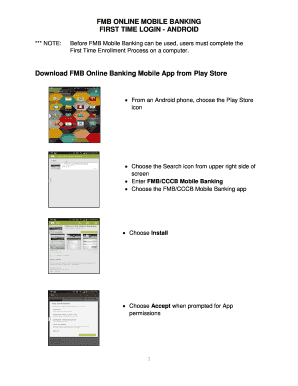 FMB ONLINE MOBILE BANKING Fill Online, Printable, Fillable