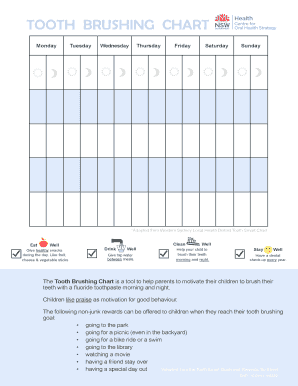 graphic regarding Printable Tooth Brushing Chart named youngster enamel chart - Fillable Printable On-line Kinds