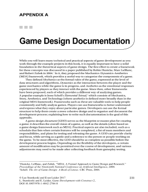 Printable Technical Design Document Game Development Edit Fill - Game development document template