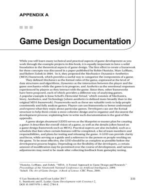 Printable Technical Design Document Game Development Edit Fill