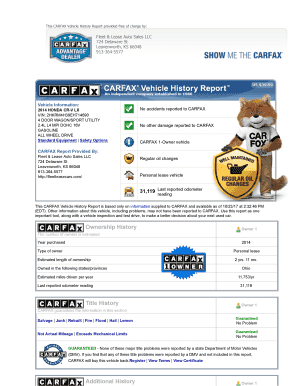 Free Vehicle History Report Online >> Carfax Vin Free Fillable Printable Templates To Download In Pdf