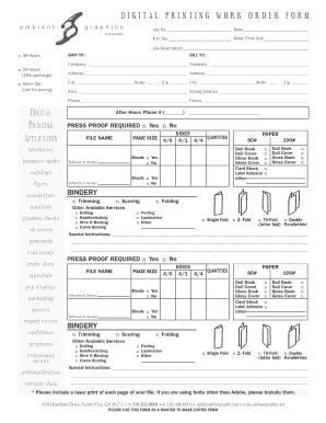 order form printing  Print Shop Order Form Template - Fill Online, Printable ...