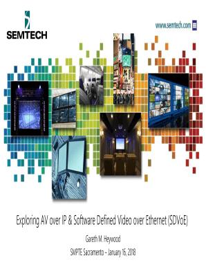 Fillable Online Exploring AV over IP & Software Defined
