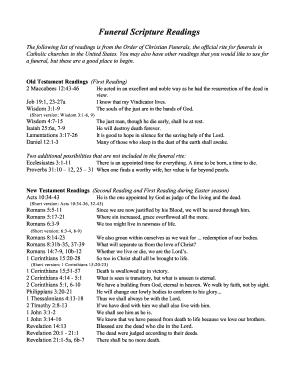 Printable funeral planning checklist for pastors - Edit