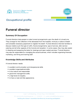 Printable funeral home survey questions - Edit, Fill Out