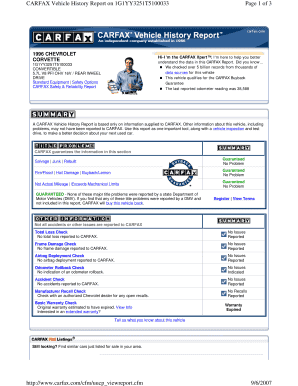 Editable free carfax trick Samples Online in PDF