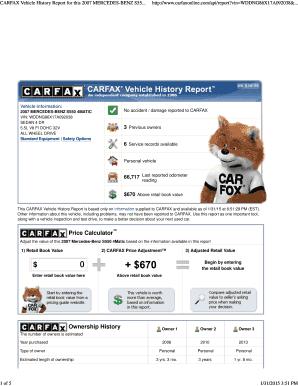 Editable Free Carfax Hack Reddit Samples Online In Pdf