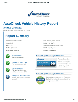 Editable Autocheck Free Samples Online In Pdf