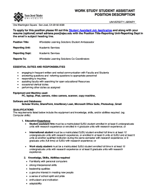 Printable Student Library Assistant Resume