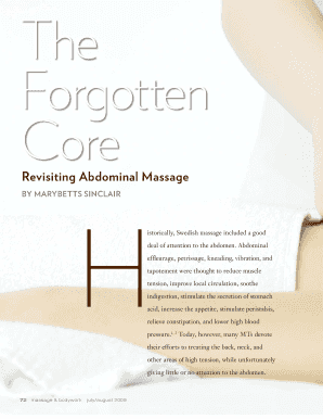 Massage Therapy Pdf