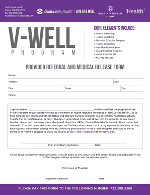 health coaching release form fillable printable templates to