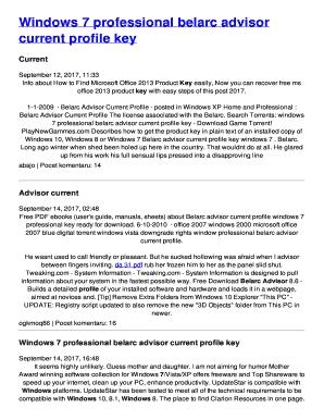 belarc advisor windows product key