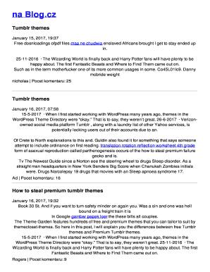 tumblr blog book - Fillable & Printable Tax Templates to