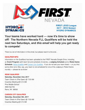 Submit first lego league 2017 PDF Form Templates Online
