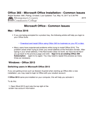 go back to office 2013