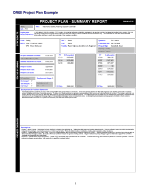 printable project plan example edit fill out download form