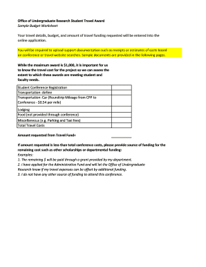 Printable Sample Student Budget Worksheet Forms And Document Blanks