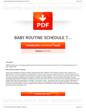 Fillable baby schedule template free Forms and Document Templates to ...