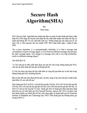 Fillable Online Secure Hash Algorithm(SHA) Fax Email Print