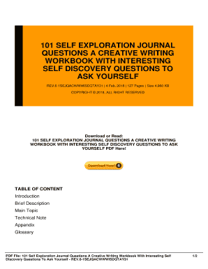 self discovery journal questions - Fillable & Printable Online Forms