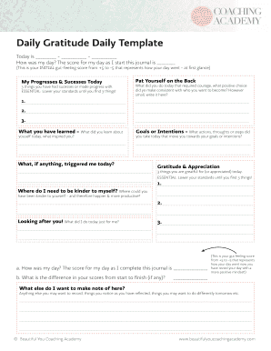 daily journal template evernote - Fillable & Printable Online Forms ...