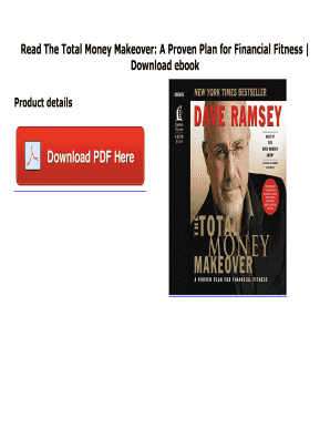fillable online online pdf the total money makeover a proven plan for financial fitness read pdf the total money makeover a proven plan for financial
