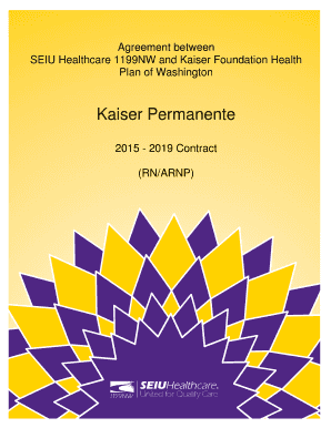 Seiu Healthcare 1199nw And Kaiser Foundation Health Fill Online