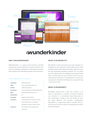 Submit wunderlist for chrome Templates Online in PDF