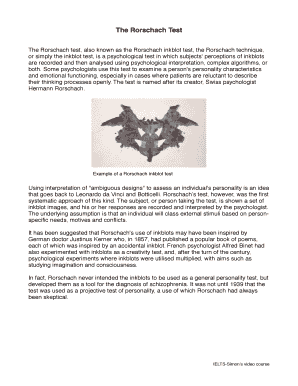photo about Bdi Ii Printable named rorschach card 5 - Edit, Fill, Print Obtain Supreme Healthcare