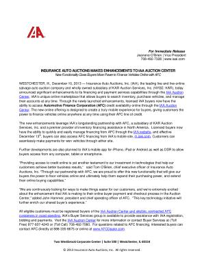 iaa insurance auto auction - Fillable Form & Document
