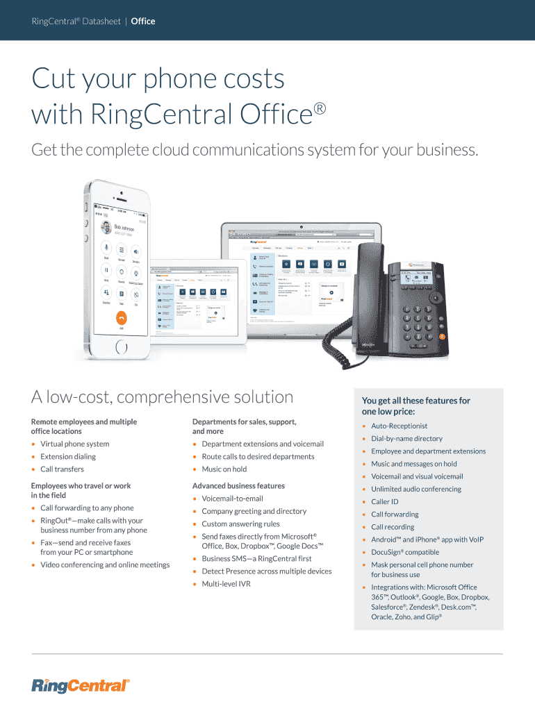 RingCentral Datasheet Office Fill Online, Printable