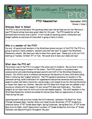 pto newsletter ideas the pto is very excited about the upcoming school year and we hope you are too