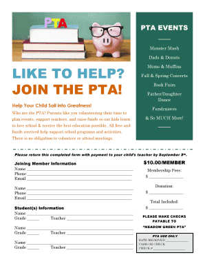 Fillable Pta Newsletter Templates In Word Edit Online Print