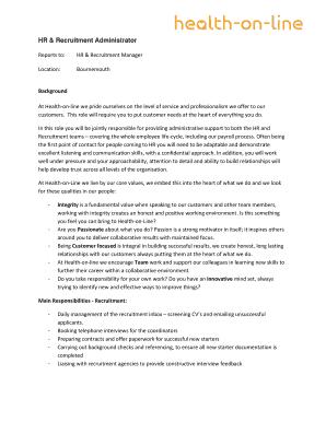 Fillable recruitment plan ppt - Edit, Print & Download