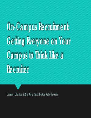 on campus recruitment