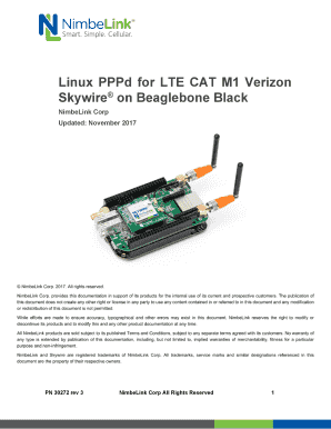 Fillable Online Linux PPPd for LTE CAT M1 Verizon Fax Email
