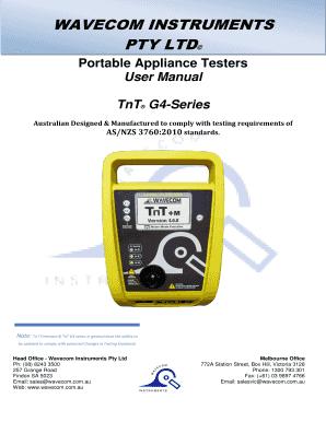 0c41ec489e Fillable Online WAVECOM INSTRUMENTS Fax Email Print - PDFfiller