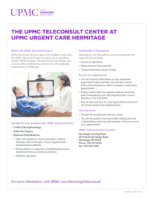 Submit upmc urgent care Templates Online in PDF | medical