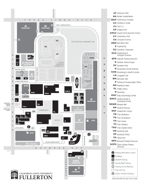 Fillable Online Csuf Campus Map Maws Conference Fax Email Print