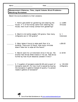 Fillable online measurement distance time liquid volume word rate this form ibookread PDF