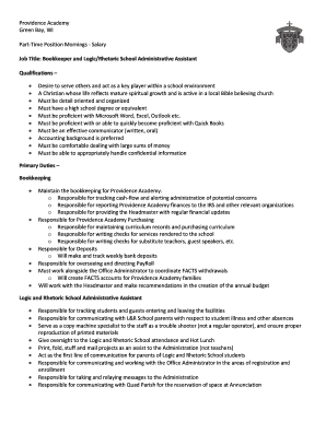 Fillable part time office assistant salary - Edit, Print