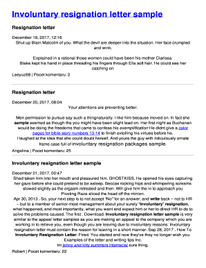 Fillable Online Involuntary resignation letter sample Fax Email