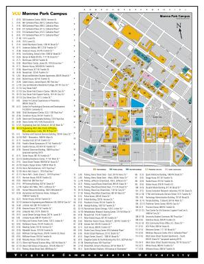 Fillable Online Monroe Park Campus Map Fax Email Print Pdffiller
