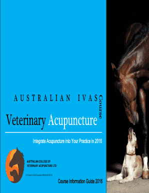 Fillable Online Course Veterinary Acupuncture - Vet Suppliers
