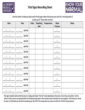 Fillable free vital sign sheets edit online download best forms free vital sign sheets altavistaventures