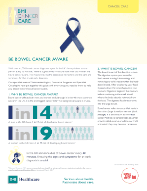 bowel cancer symptoms forum - Fill Out Online Documents